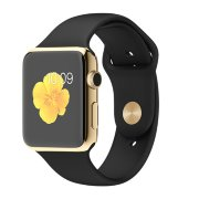 Apple Watch 38mm 18-Karat Yellow Gold Case with Black Sport Band