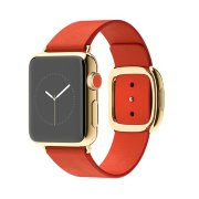 Apple Watch 38mm 18-Karat Yellow Gold Case with Bright Red Modern Buckle