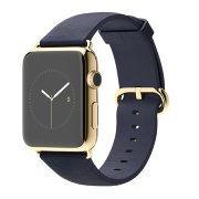 Apple Watch 42mm 18-Karat Yellow Gold Case with Midnight Blue Classic Buckle