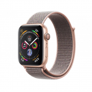 Apple Watch Series 4 40mm Gold Aluminum Case with Pink Sand Sport Loop