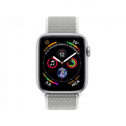Apple Watch Series 4 40mm Silver Aluminum Case with Seashell Sport Loop