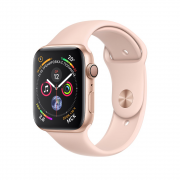 Apple Watch Series 4 44mm Gold Aluminum Case with Pink Sand Sport Band